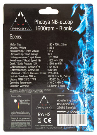 Phobya NB-eLoop 1600rpm – Bionic