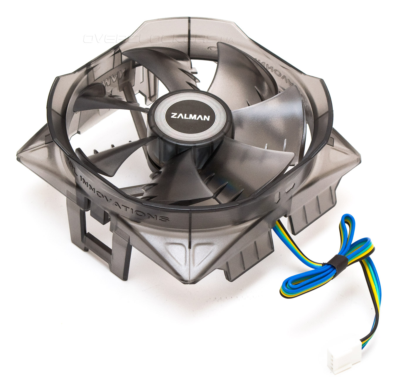 A zalman fan mate allows control of the fan speed