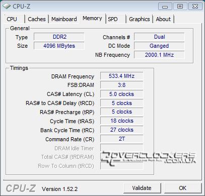DDR2-1066 с задержками 5-5-5-18, Ganged