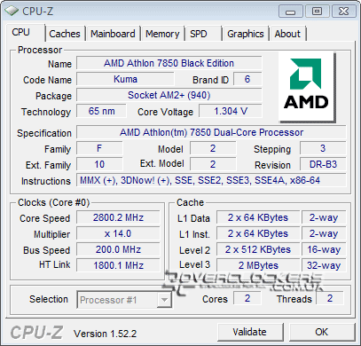 AMD Athlon X2 7850 BE