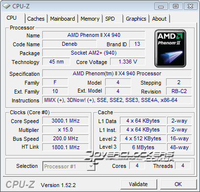 AMD Phenom II X4 940 BE