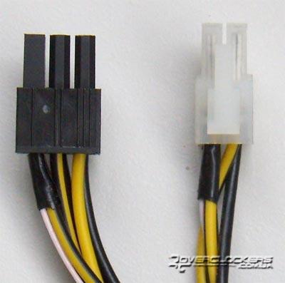 кабелях питания процессора