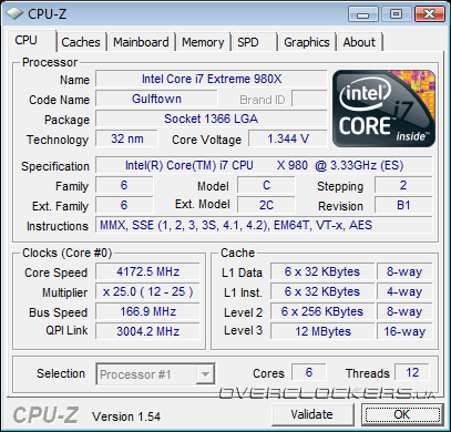 Разгон Intel Core i7-980X Extreme Edition