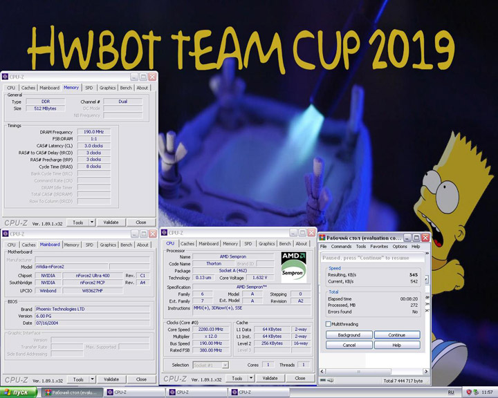 HWBot Team Cup 2019 — Dogpile