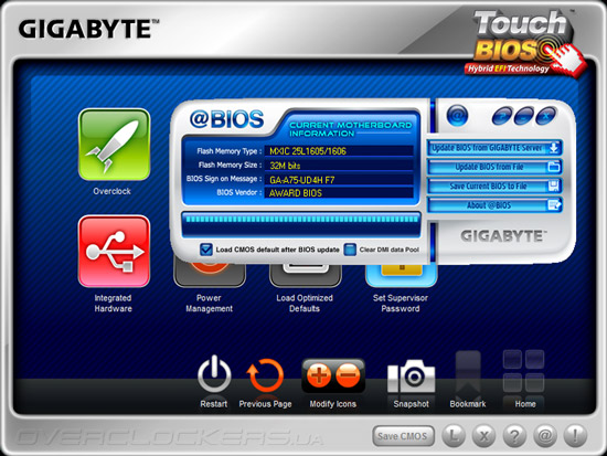 Gigabyte Touch BIOS