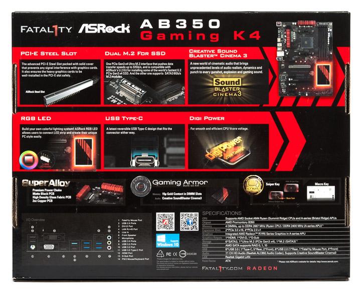 Обзор материнской платы ASRock Fatal1ty AB350 Gaming K4  Ещё
