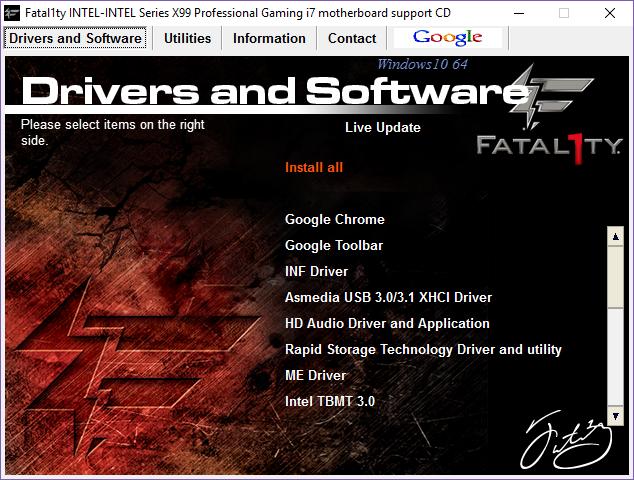 ASRock Fatal1ty X99 Professional Intel ME Windows Vista 64-BIT