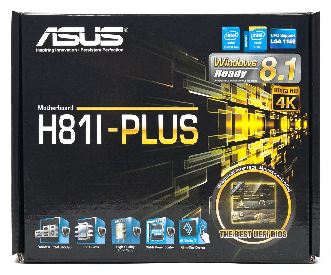 Asus H81I-PLUS/CSM Intel ME Driver Windows