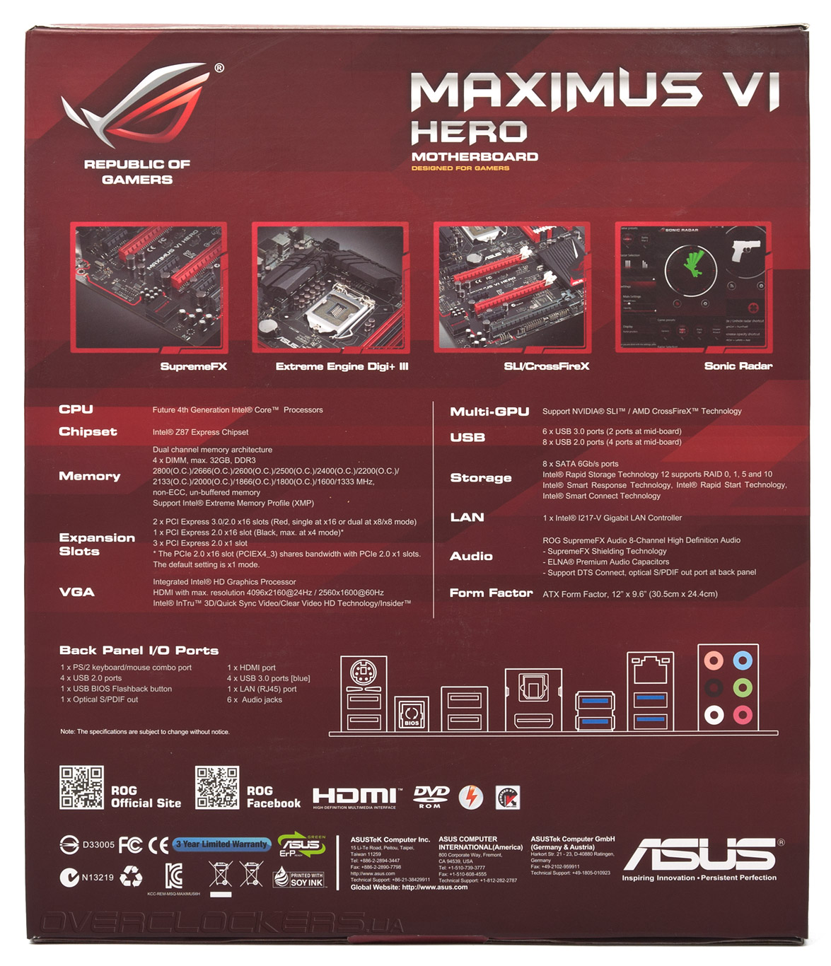 Driver: Asus MAXIMUS VI IMPACT Intel Graphics
