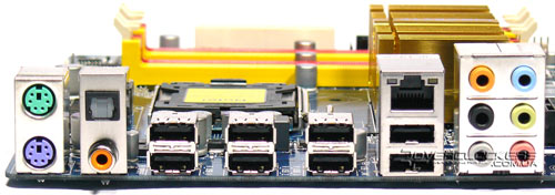 Задняя панель Gigabyte GA-EP43-DS3L