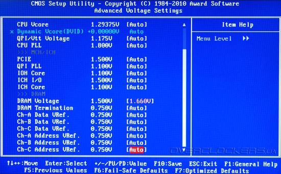 BIOS Setup Gigabyte GA-X58A-UD9