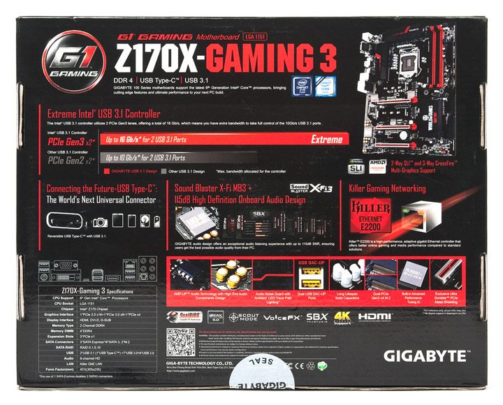 Gigabyte GA-Z170X-Gaming 3 Creative Audio Drivers for Mac Download