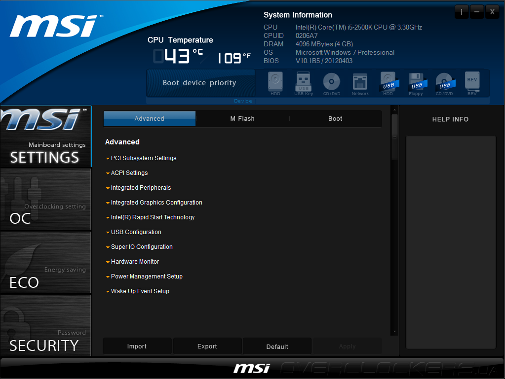 msi b75a-g43 bios