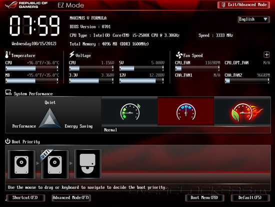 UEFI Setup ASUS Maximus V Formula/ThunderFX