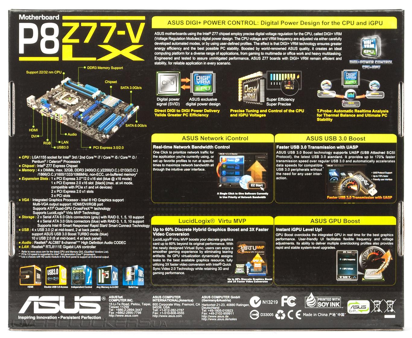 ASUS P8Z77-V LX INTEL CHIPSET DRIVER PC