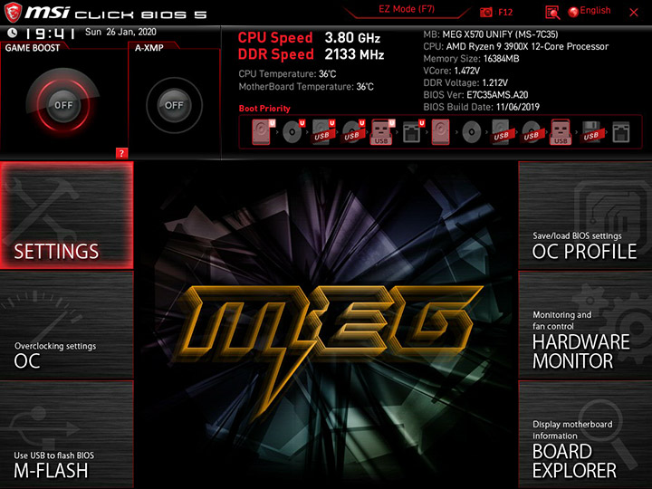 MSI MEG X570 Unify