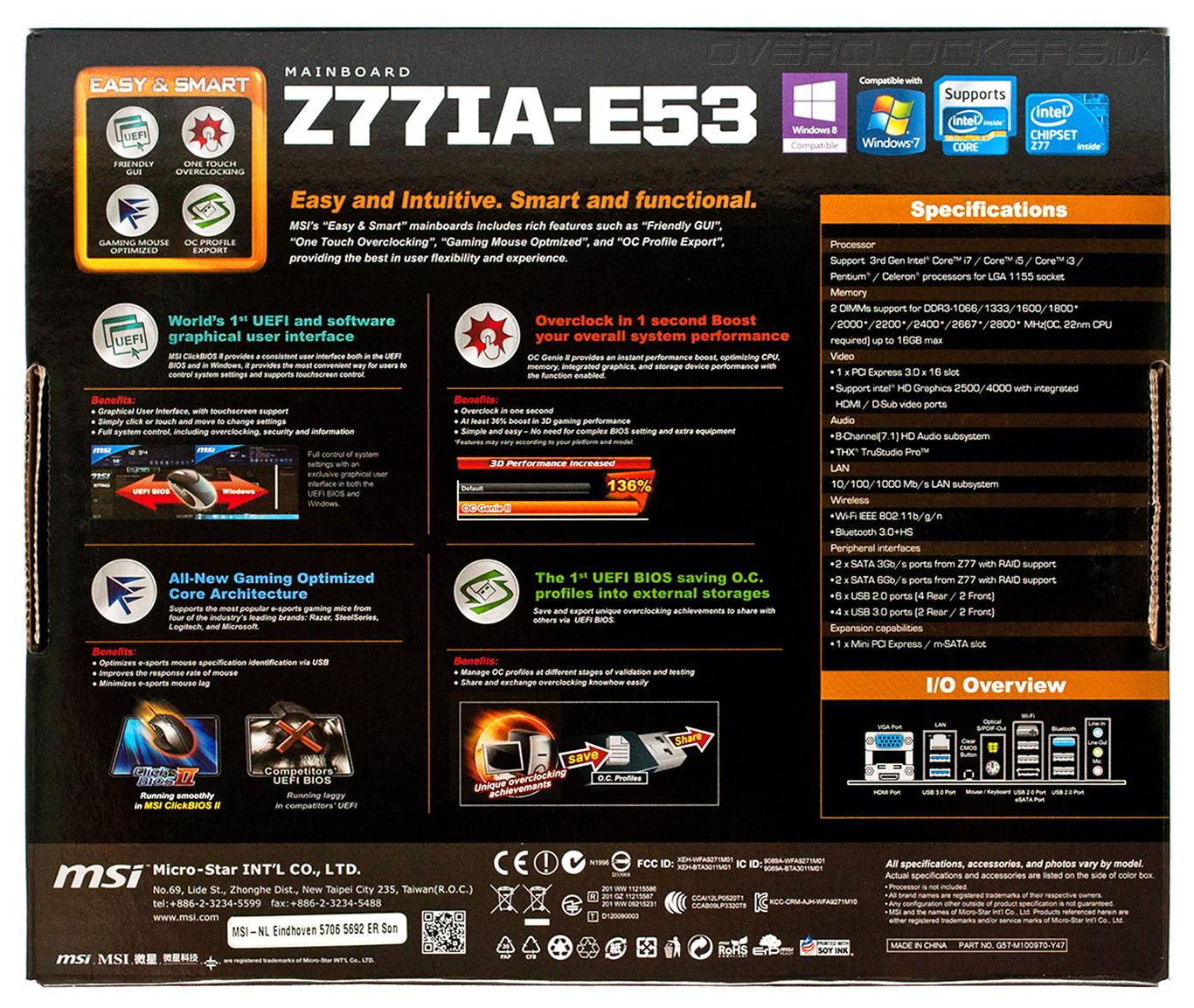 MSI Z77IA-E51 Intel Bluetooth Drivers Update