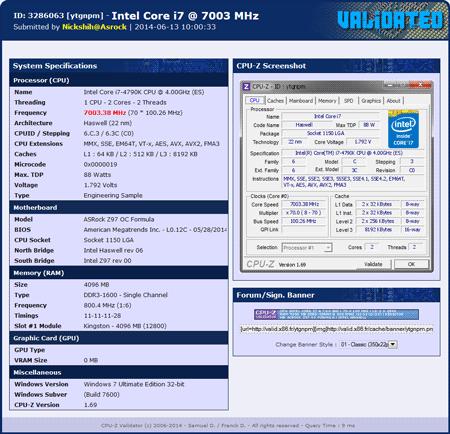 ������ ���������� Intel Core i7-4790K
