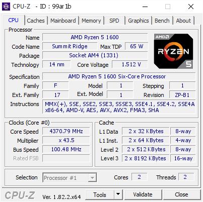 Разгон AMD Ryzen 5 1600
