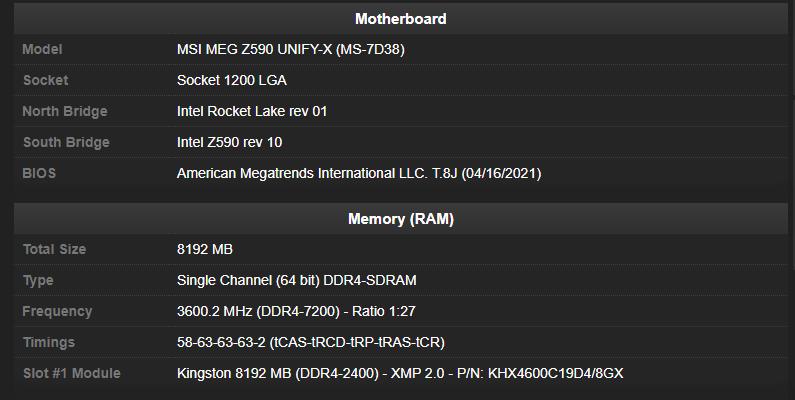 DDR4-7200 — новый мировой рекорд разгона оперативной памяти