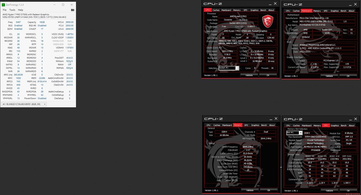 AMD Ryzen 7 5700G: оверклокерские рекорды