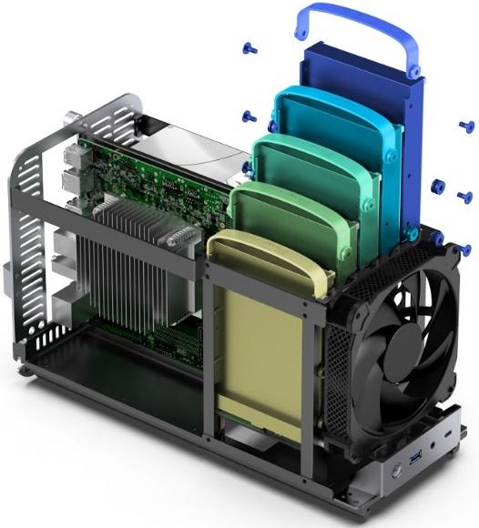 Jonsbo представила Mini-ITX корпус N1 с поддержкой пяти 3,5-дюймовых накопителей