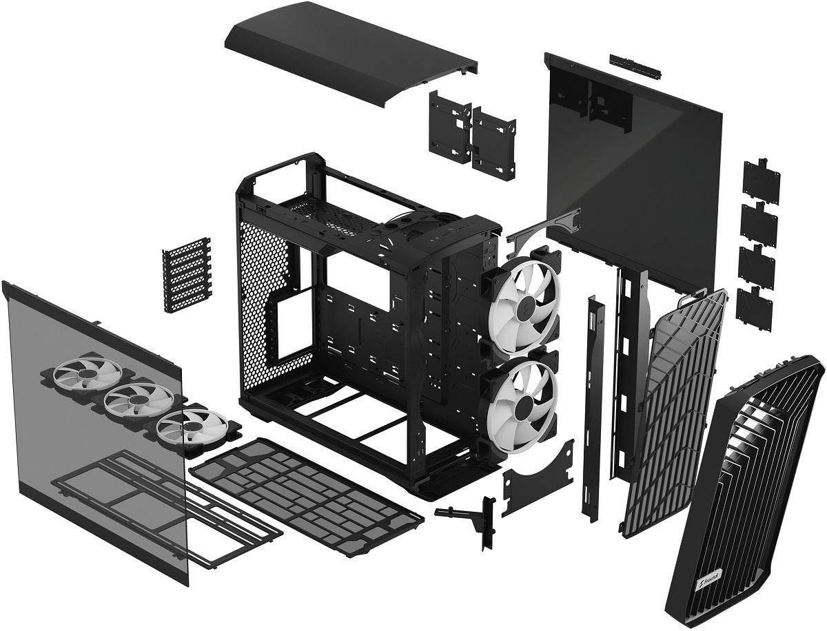 Fractal Design представила корпус Torrent с открытой передней решёткой