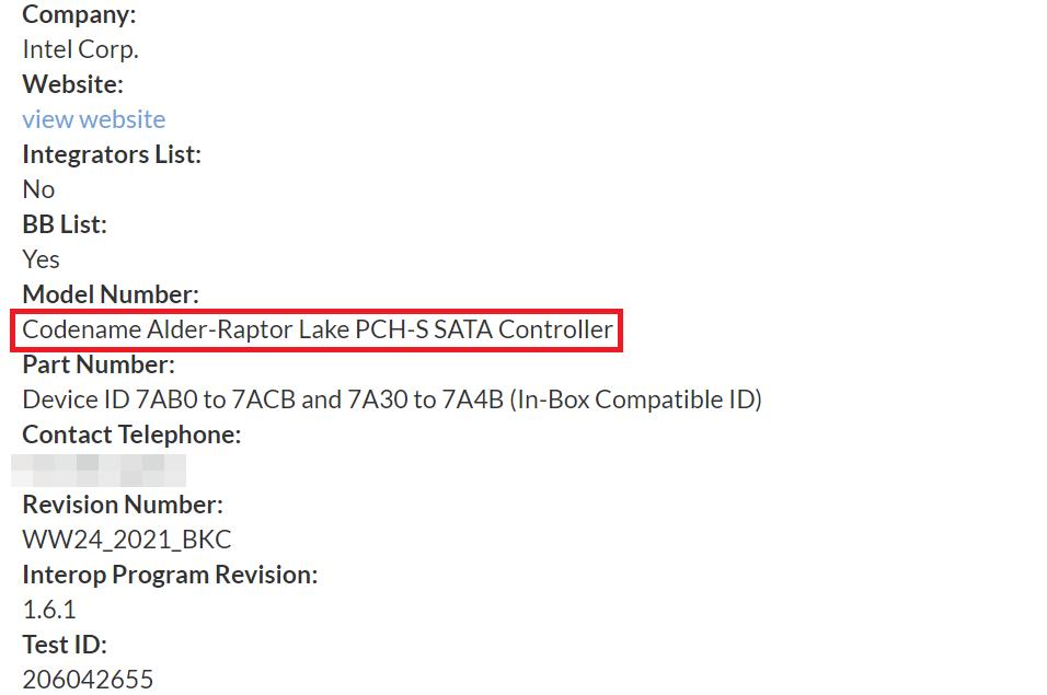 Чипсеты для процессоров Intel Alder Lake и Raptor Lake прошли сертификацию SATA-IO