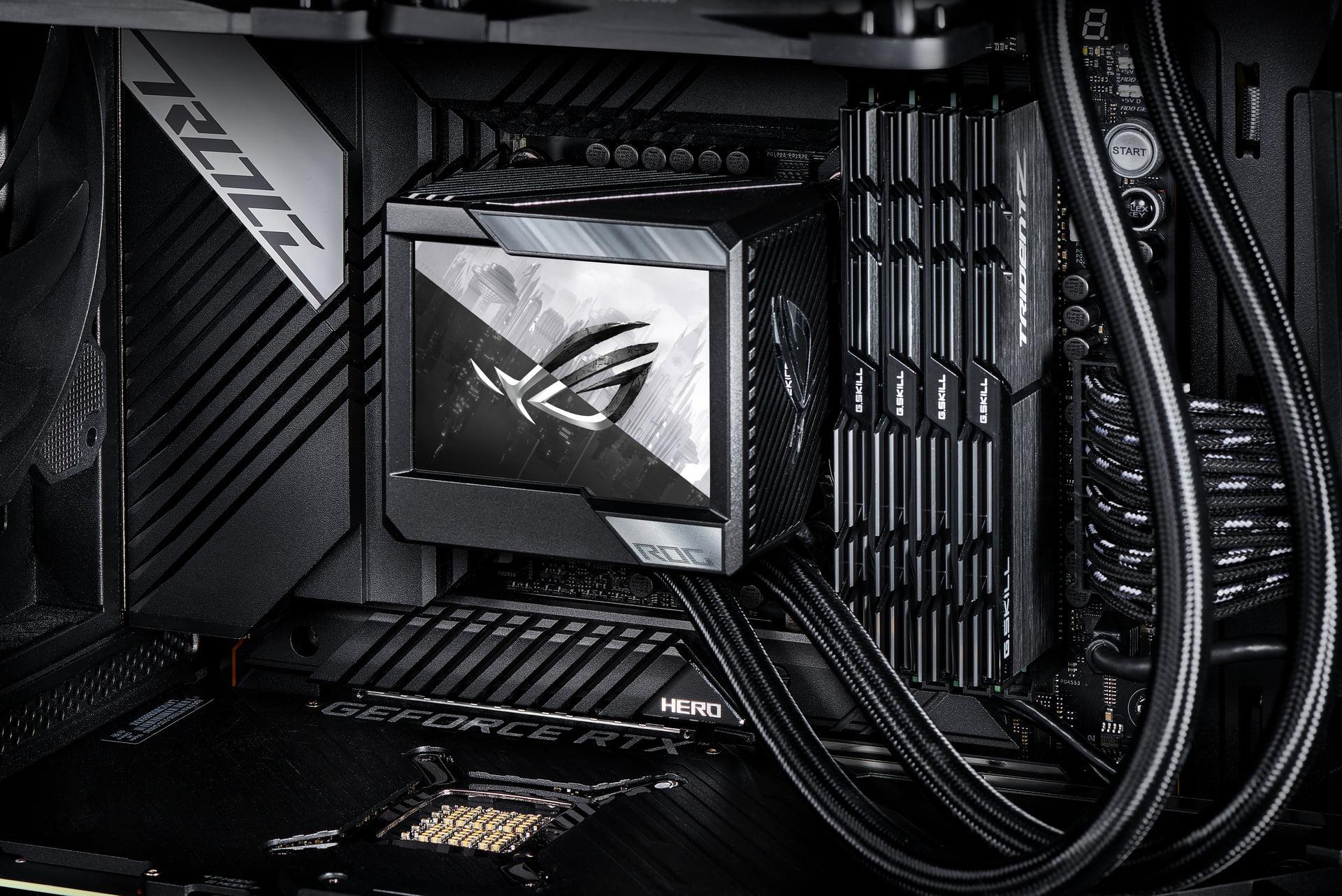 ASUS оснастила 3,5-дюймовым экраном процессорные СЖО линейки ROG Ryujin II
