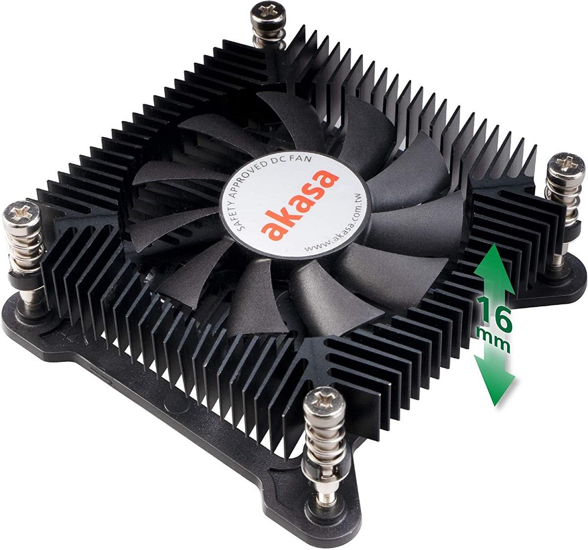 Akasa KS7 — процессорный кулер высотой 16 мм
