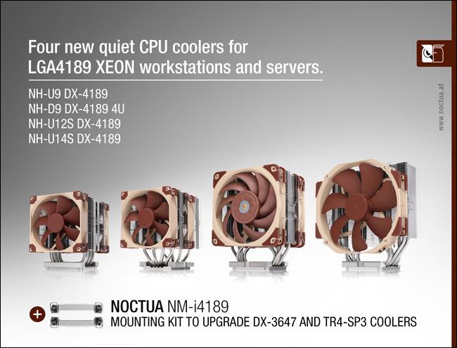 Noctua выпустила четыре CPU-кулера для платформы Intel LGA4189
