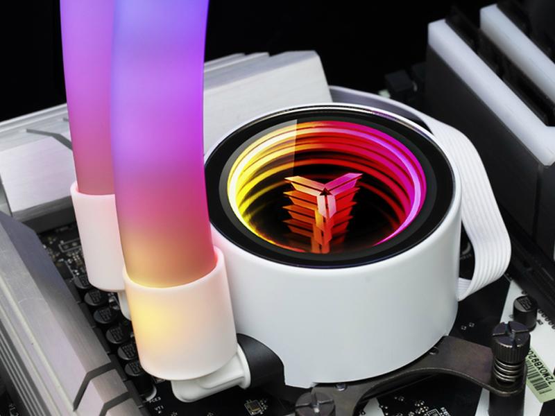 Jonsbo оснастила процессорные СЖО Shadow ARGB Plus шлангами с подсветкой