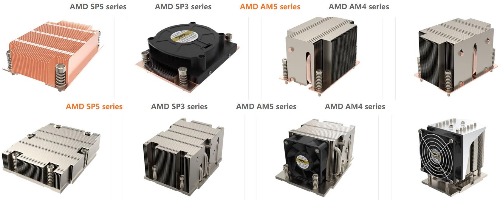 Cool Server подготовила системы охлаждения для платформ AMD AM5 и SP5