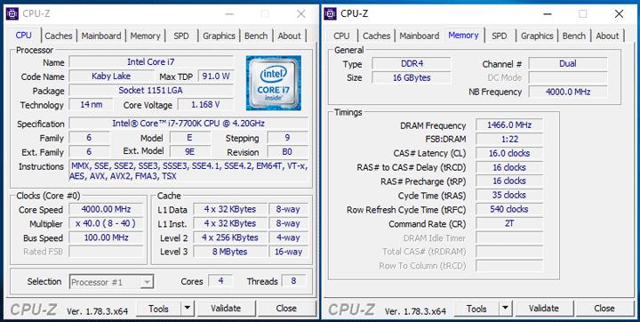 Характеристики Intel Core i7-7700K