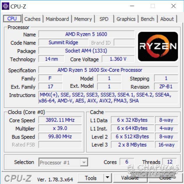 Процессор AMD Ryzen 5 1600 в разгоне
