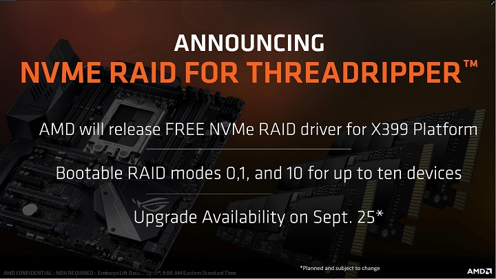 Релиз AMD Ryzen Threadripper 1900X