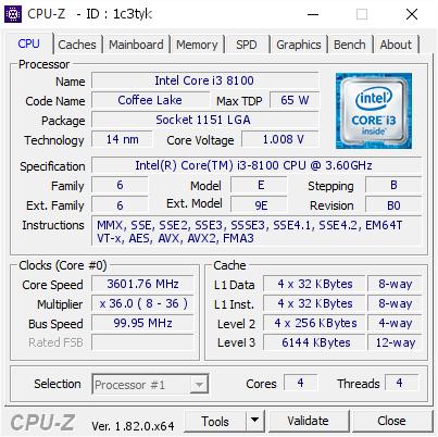 Intel Coffee Lake DDR3