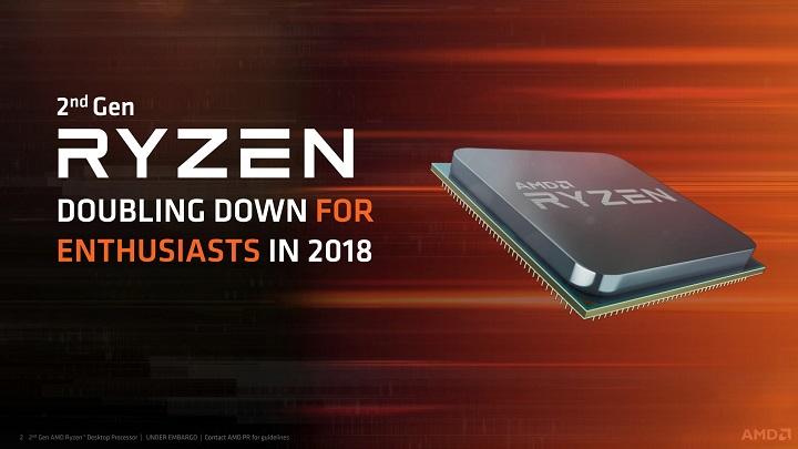 AMD анонсировала процессоры Ryzen 2-го поколения