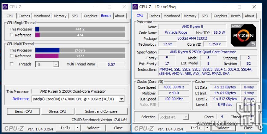 Китайские энтузиасты вновь протестировали AMD Ryzen 5 2500X