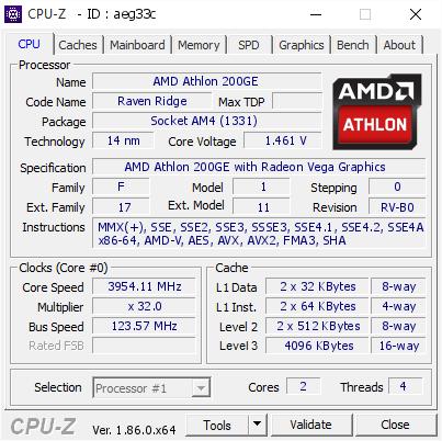 AMD Athlon 200GE overclocking