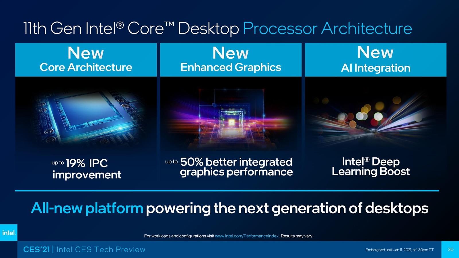 Графический драйвер для настольных чипов Intel Core 11-го поколения выйдет в ближайшие недели
