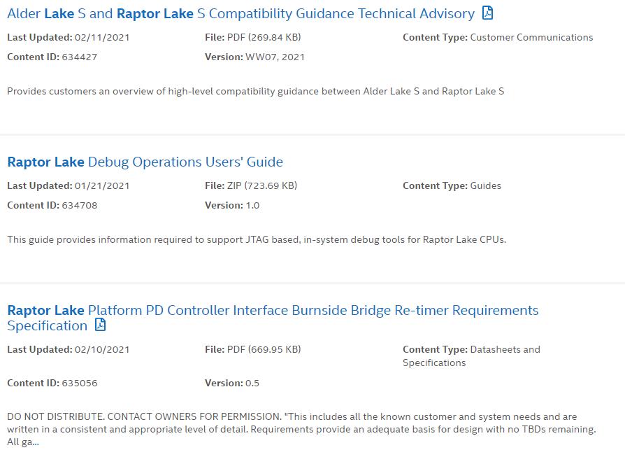 На смену процессорам Intel Alder Lake-S придут Raptor Lake-S