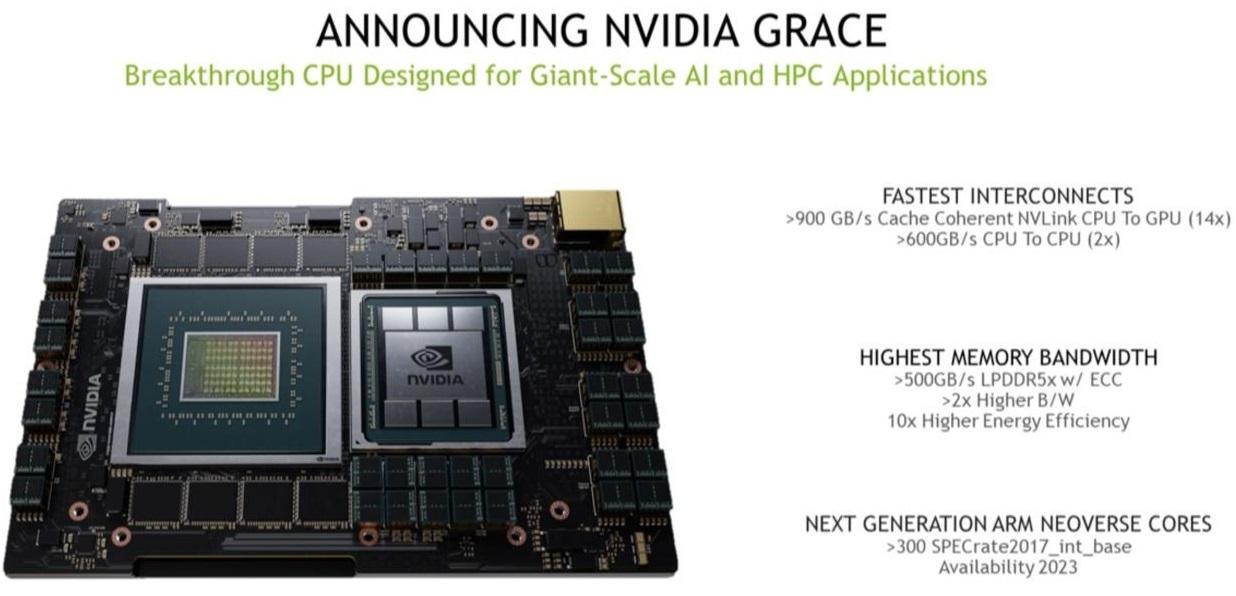 ARM-процессор Nvidia Grace найдёт применение в суперкомпьютерах