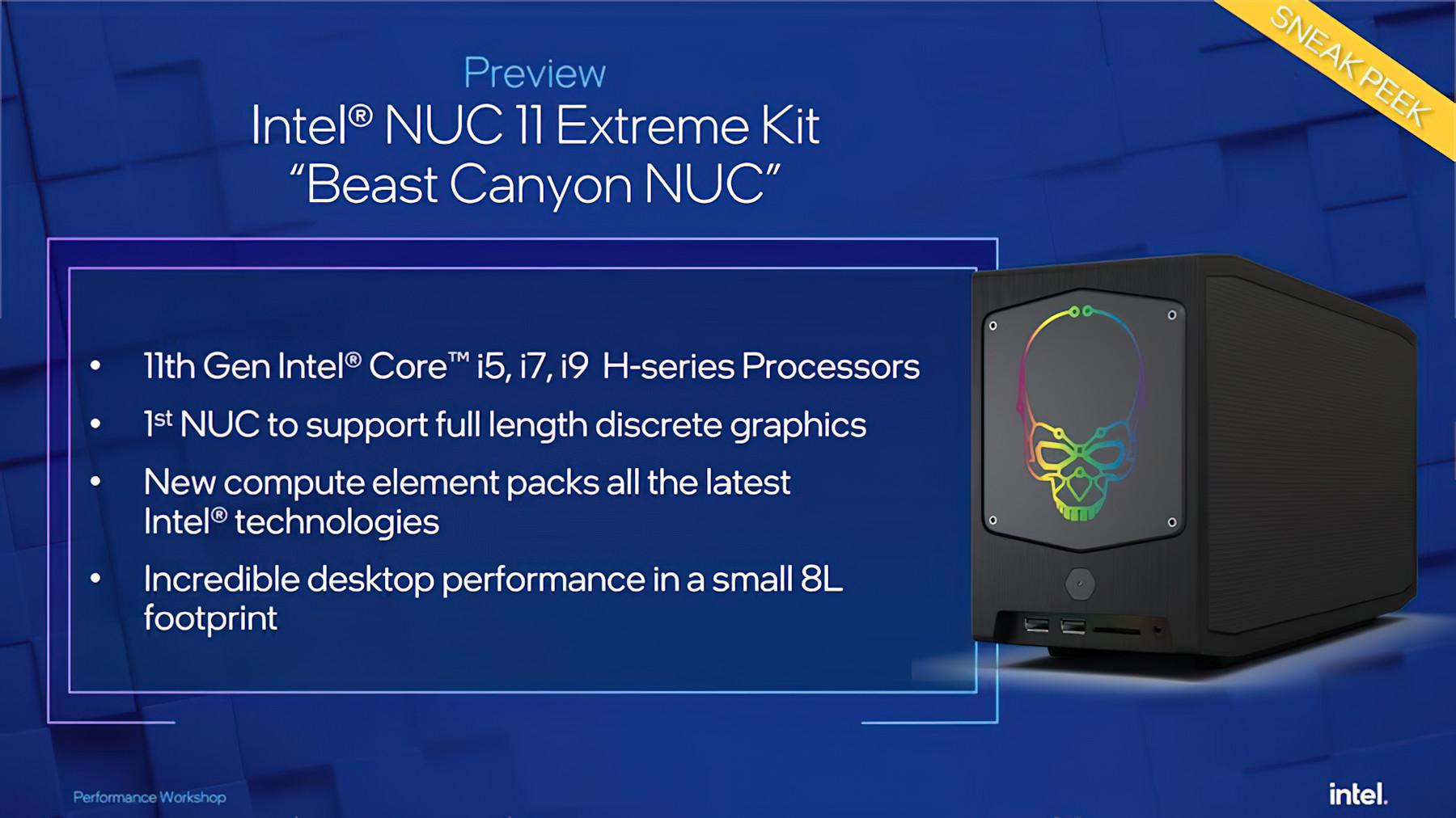 Intel выпустила игровой десктоп NUC 11 Extreme (Beast Canyon)