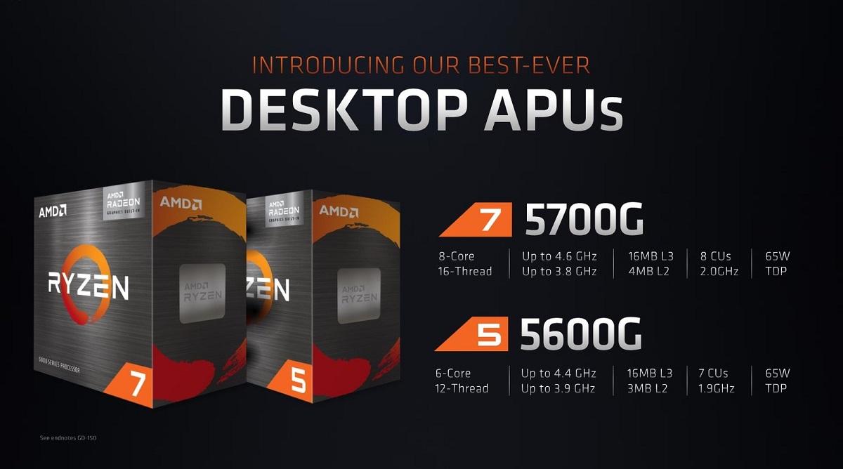 Ryzen 5000G: гибридные чипы AMD Zen 3 поступят в магазины пятого августа