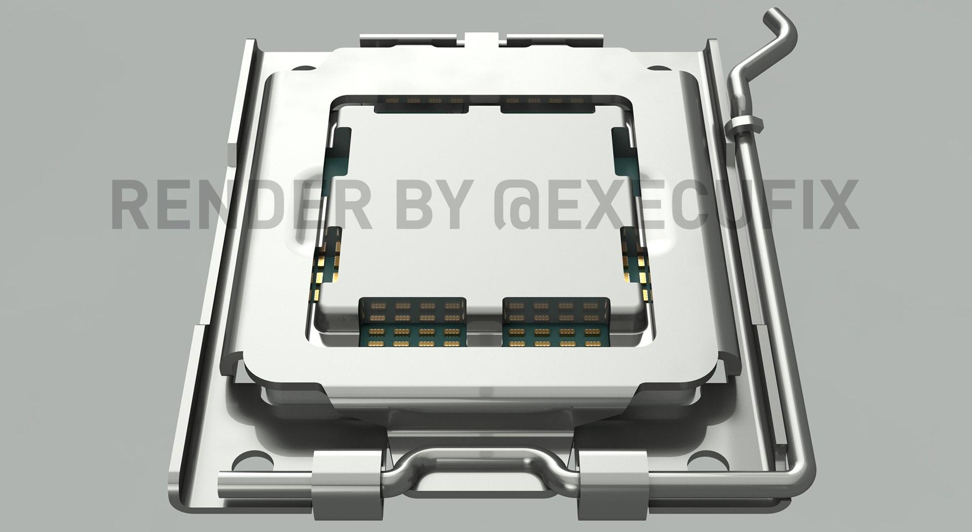 Любительский рендер процессорного разъёма AMD AM5