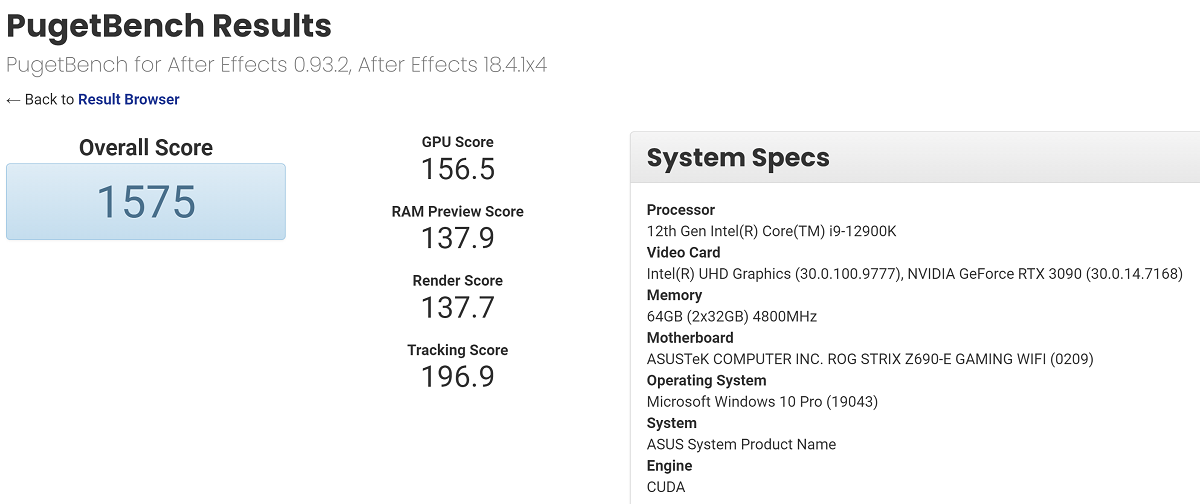 Intel Core i9-12900K замечен в компании платы ASUS ROG Strix Z690-E Gaming WiFi