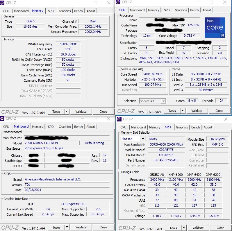 Intel Core i9-12900K помог установить первый рекорд разгона DDR5 — 8008 МГц!