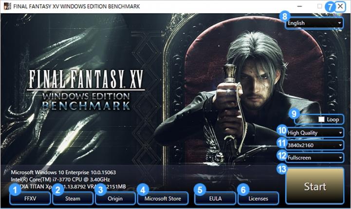 Вышел бенчмарк Final Fantasy 15: Windows Edition, предзаказ открыт