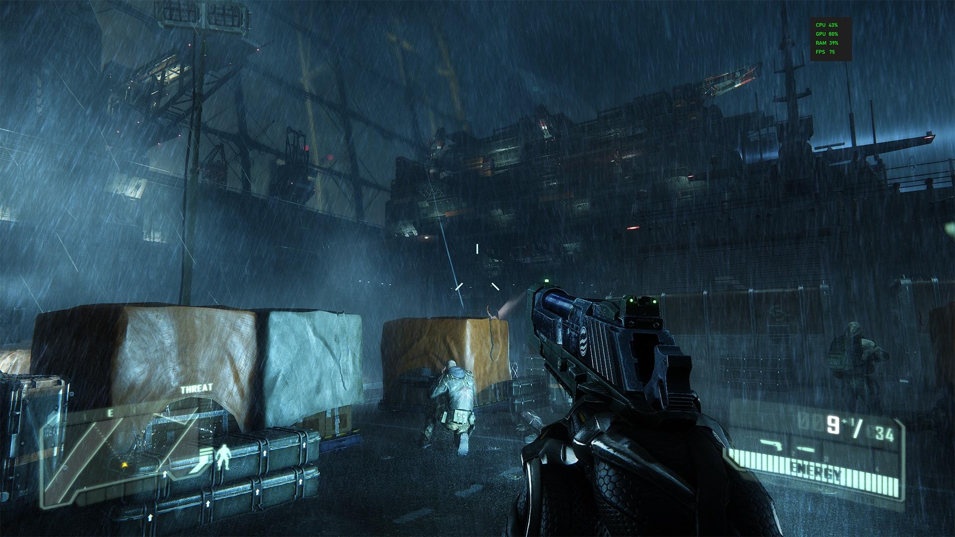 Crysis 3 установлен в видеопамять GeForce RTX 3090
